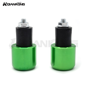 CNC Universal Motorcycle Hand Bar Ends Manubrio Grips FINDS per ZX6R 2005 2006 2007 2008 2009 2010 2011