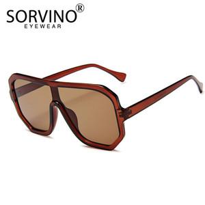 Sorvino Vintage Shades per le donne di lusso della visiera degli occhiali da sole degli uomini 2020 anni '90 Designer oversize Futuristico marca pilota Occhiali da sole P354