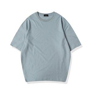 2020 Solid Color T shirt Men Plain Vintage Oversized T shirts Blank Cotton Street T shirt Nxcaps Wholesale