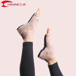 MESLEKİ Eğitmen Kadınlar Spor Beş 5 Fingers Ayakkabı Pilates Sport Vücut için Yisheng Yoga sıkılaştırma Ayakkabı