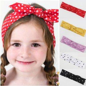 Bebek Kız nokta Şerit Bantlar Saç Yaylar Çocuk çapraz saç bandı örgülü Headwrap Turban Knot Çocuk Saç Aksesuarları H50