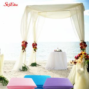 10m * 72cm românticos Neve Fios Arcos de casamento Sheer Cristal Organza Tulle Tecido for Wedding Party saia decoração tule 5ZSH015-2