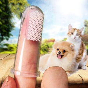 Köpek Diş Fırçası Pet Parmak Diş Fırçası Köpek Oyuncakları Çevre Koruma Silikon Köpekler Kediler Temiz Dişler Evcil hayvan bakım ürünleri