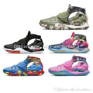 Kyrie Mens Pre-Heat Shanghai Beijing Jet Black 6 Basketball Shoes Designer Irving 6s NYC Miami Houston Women Kids Boys Sports Sneakers 4-12