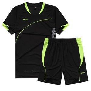 2020 JUNJIAN мужчины бег костюм с коротким рукавом + шорты баскетбол обучение спортивный костюм Quick Dry спорт тренажерный зал фитнес одежда беговые наборы