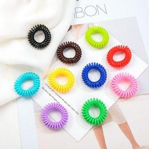 100pcs / Lot Yeni Küçük Telefon Hattı Saç Halatlar Kızlar Renkli Elastik Saç Bantları Kid at kuyruğu Tutucu Tie Sakız Aksesuarları