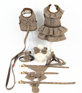 Дизайнерские аксессуары для собак одежда для домашних животных британский стиль дышащий тяги грудь жилет юбка