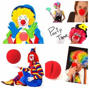 Magic Red Sponge Balls Clip Foam Clown Nose Costume Party Fancy Dress Cosplay Comic Halloween Christmas Party supplies children