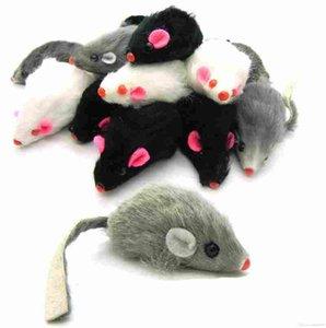 부드러운 토끼 모피 False 마우스 고양이 장난감 재미 캔디 컬러 개 완구 무료 배송 고품질