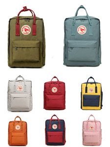High Quality Fjallraven Kanken Rainbow band Students Riding Canvas Backpacks Sport Waterproof Backpacks Free Shipping #QA482