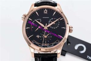 탑 마스터리적 1422521 고급 시계 GMT 날짜 예비 전력 손목 시계 스위스 939/1A 자동 기계적인 사파이어 18K 금 경우