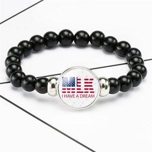 I Can't Breathe Beaded Bracelet Black Lives Matter George Floyd American Parade Bracelet Creative Party Favor 9color 500pcs T1I2029