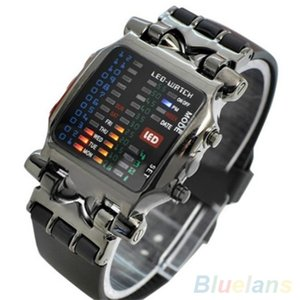 Nuovo arrivo popolare piazza Dial binari orologi digitali a LED Uisex fascia di plastica casual sport orologio da polso