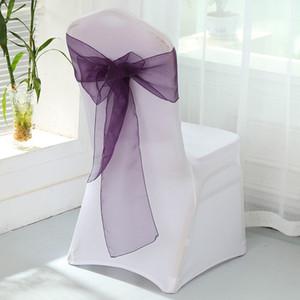 Eco-Friendly 18 * 275 centimetri Organza copertura telai della sedia del telaio Sashe Bow Covers festa di nozze Decorare banchetto Strumenti RRA2465