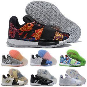 2019 Tasarımcı james harden 3 vol.3 erkek Açık Ayakkabıları Yüksek Kalite Trainer Spor Sneaker boyutu 40-46
