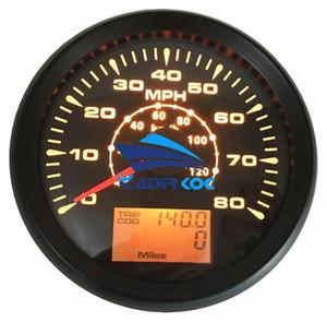 1 0-80MPH 자동 튜닝 GPS 속도계 게이지 85mm 0-120km / h GPS 속도 마일 레 모 터 주행 거리계 여행 게이지 이리저리 9-32vdc