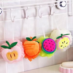 Nuevo encantador colorido fruta forma baño bola baño baño esponja frotamiento toalla cuerpo limpieza Scrub ducha baño cepillo