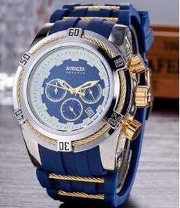 الرجال ووتش جميع خواتم Subdial العمل توقيت سيليكون الشريط ايبيل كوارتز ساعة شخصية مضيئة العرض هدايا relojes