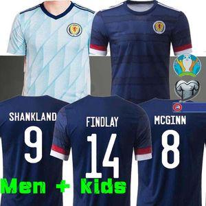 MEN + KIDS 2020 2021 스코틀랜드 축구 유니폼 camisetas 드 푸 웃 집 맥그리거 맥긴 암스트롱 로버트슨 축구 셔츠 태국 AWAY