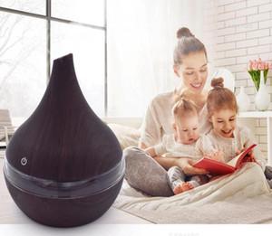 Difusor eléctrico del aire del aroma de madera de grano humidificador ultrasónico de aromaterapia aceite esencial 300ml fresco del USB fabricante de la niebla Para el hogar
