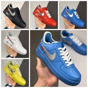 2020 New NIKE Air force 1 Low MCA University Blue 1s Dunk Utility Skateboard Casual Shoes High Cut Green Triples White black Wheat men women Sports sneakers