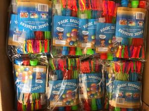 물 풍선 물 물 채워진 풍선의 다채로운 무리 놀라운 마법의 물 풍선 폭탄 장난감 채우는 물 풍선 아이 장난감에 대 한 게임