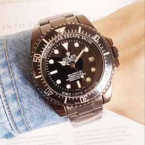 luxury mens automatic mechanical watches classic style 42mm full stainless steel strap top quality wristwatches sapphire super luminous