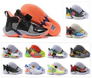 Lo nuevo 2019 Russell ¿Por qué no? Zer0.2 II Westbrook 2 Jumpman Brand Chaos What the Michigan Zero.2 Hombres Zapatos ocasionales EE. UU. 7-12