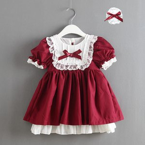 IN STOCK Spanish baby clothes Christmas Girl Lace Dresses Princess Bow Party Dress Baby girl Lolita Spain Dress with headbands