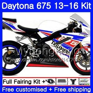Bodys For Triumph Daytona 675 2013 2014 20 15 2016 Carrozzeria 328HM.47 Daytona675 Daytona-675 Daytona 675 13 14 15 16 carenatura bianca lucida