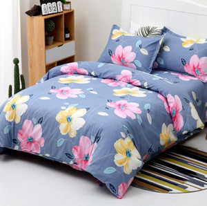 4 Piece Brushed Microfiber Printed Bed Sheets Set Queen Size,Included 1 x Duvet Cover,1 x Flat Bed Sheet,1 x Pillowcase,Easy Care