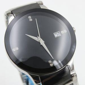 Guardare Coppia Rad CENTRIX limitata orologio rotondo di alta qualità in ceramica Data Orologi di moda di lusso R30941702 nero Movimento al quarzo