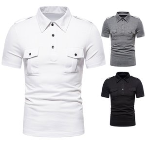 New Mens Fashion Polos Verão Casual Sports Tees Designer slim Collar manga curta Sexo Masculino Polos
