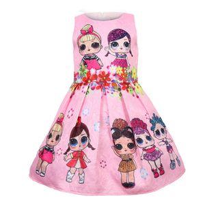 Bebek Elbiseler 3-9Y Yaz Sevimli Şık Elbise Çocuk Parti Noel Kostümler Çocuk Giyim Prenses Lol Kız Giydirme