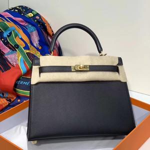 bolsa de kelly negro mejor calidad al por mayor con la piel de Epsom, 25 cm de tamaño 28cm, muchos otros bolso diseñado, billetera con gran descuento, entrega rápida