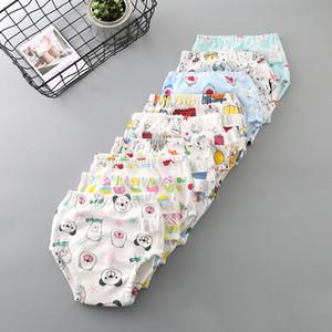 9 Colores de Dibujos Animados Pantalones de Entrenamiento del Bebé Impermeable Pañal Pantalón Potty Toddler Respirable Bragas Nueva Ropa Interior Reutilizable