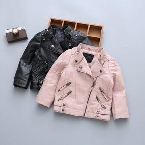 Garçons garçons enfants printemps manteaux d'hiver avec fourrure en cuir veste filles hiver vestes en plein air enfants fort)