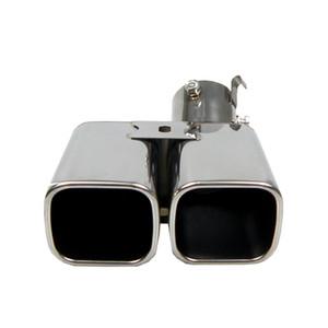 ألفارد 1 إلى 2 ثنائي ماسورة العادم 304 الفولاذ المقاوم للصدأ تعديل الذيل الخلفية للسيارات الحنجرة الخمار عن ألفارد