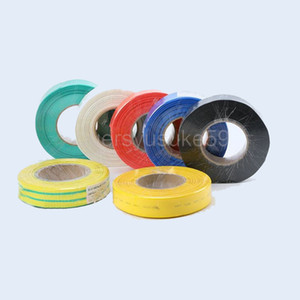 25M Diameter 25mm Flat Width 40mm Heat Shrinkable Tube Sleeving Cable Heat Shrink Tubing Yellow Blue Green White Red Clear Yellow-green