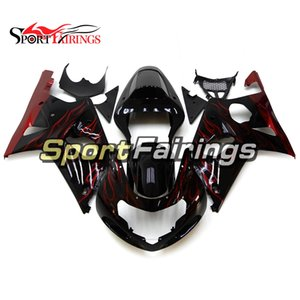 Complete Motorcycle Fairing Kit For Suzuki GSXR1000 K1 K2 2000 2001 2002 GSXR1000 00 01 02 Injection ABS Plastic Body Work Black Red Flames