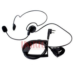 Behind the neck walkie talkie two way radio motorcycle headset finger PTT tactical headphone 2 pin