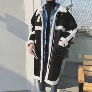 Trench Coat Men Oversizemens Coats Men Warm Winter Jacket Immitation Lamb Fleece Coat Men