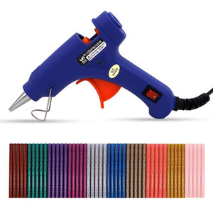 Mini Hot Melt Glue Gun Glue Sticks Removable Anti-hot Cover Glue Gun Kit with Flexible Trigger for DIY Small Craft Projects Daily Repairs