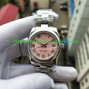 Fábrica Real Tiroteo Moda Moda Números romanos Relojes Relojes de regalo de Navidad Estilo clásico 31mm 17824 Reloj automático de mujeres Watche