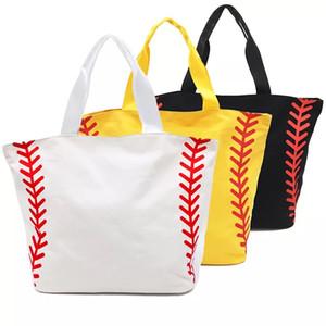 Sports Canvas Tote Bag Vente chaude personnalisée de grande taille Sport Prints Utility Tote Sac de plage Sac de voyage