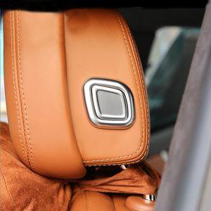 Автомобиль Стайлинг салона сиденья Кнопка Глава Подушка Регулировка крышки Блестки Обрезка наклейки для Maserati Ghibli Levante Quattroporte Автоаксессуары
