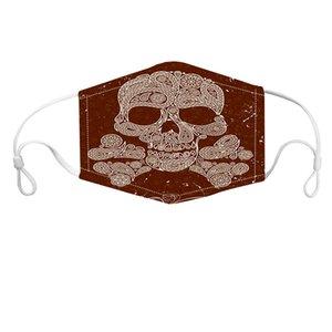 Halloween mask designer anti dust masks Custom Printed face mask earloop adjustable reusable Face mask with shield PM 2.5 filters