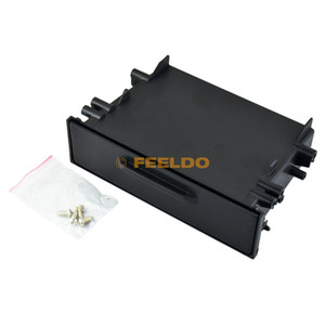 1din Car Stereo Refitting Dashboard Installazione Trim Fascia Storage Box Spacer Con Coperchio Per Toyota # 1497