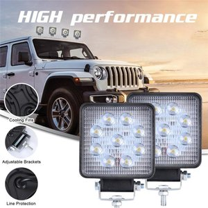 NEW LED Work Light Pods 4 Inch 90W Square Spot Beam Offroad Driving Light Bar Commonly used