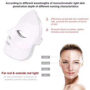 7 Colors Beauty Therapy Photon LED Facial Mask, Light Skin Care Rejuvenation Wrinkle Acne Removal Face Beauty Spa Instrument